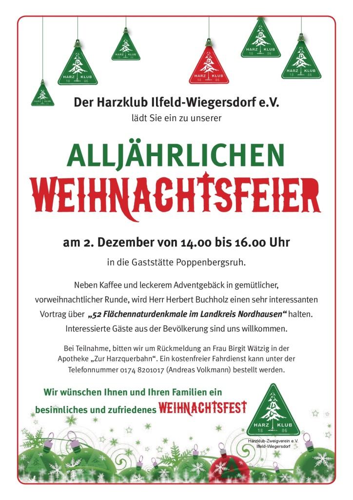 02. Dezember Weihnachtsfeier