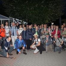 Gruppenfoto zum Start am Blumenpavillon
